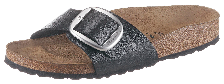 Birkenstock »Madrid« Pantolette mit auffälliger Schnalle, schmale Schuhweite online kaufen | OTTO