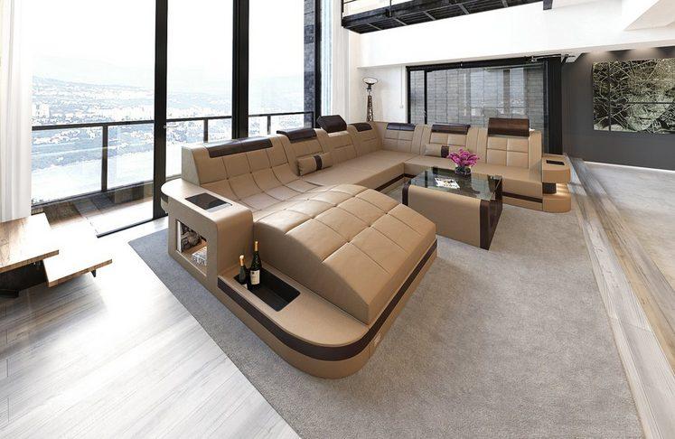 Sofa Dreams Wohnlandschaft »Wave«, U Form XXL