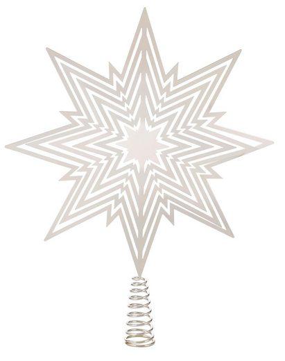 Christbaumspitze, aus Metall, Höhe 30 cm