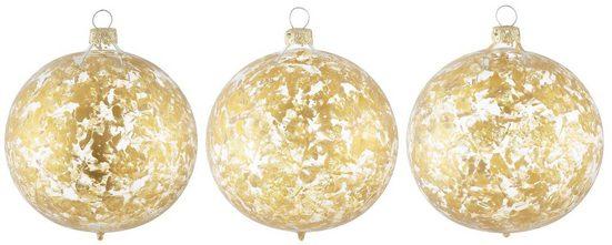 Thüringer Glasdesign Weihnachtsbaumkugel »Opulent« (3 Stück), mundgeblasen und handdekoriert