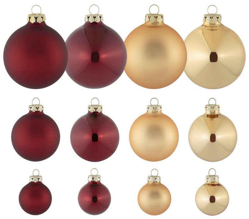 Thüringer Glasdesign Weihnachtsbaumkugel »Opulent« (40 Stück)