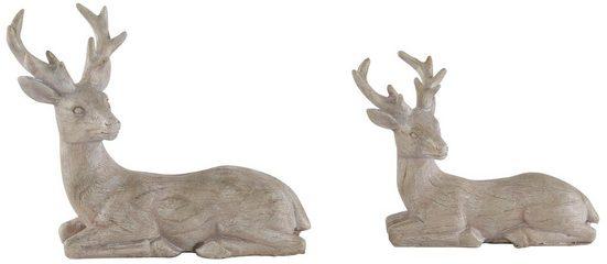 Home affaire Tierfigur »Hirsche« (2 Stück), liegend