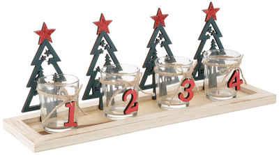 my home Teelichthalter »Adventstablett« (Set, 5 Stück)