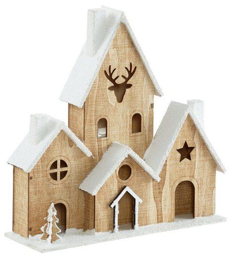 LED Dekoobjekt »Weihnachtshaus«, mit Timer