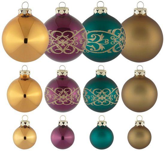 Thüringer Glasdesign Weihnachtsbaumkugel »Christmas Chic« (30 Stück)