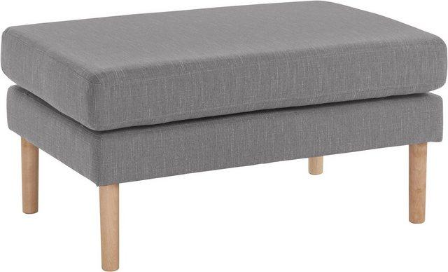 Sessel und Hocker - andas Hocker »Grenzda«, Füße aus Massivholz, Ergänzung zum 2 und 3 Sitzer  - Onlineshop OTTO