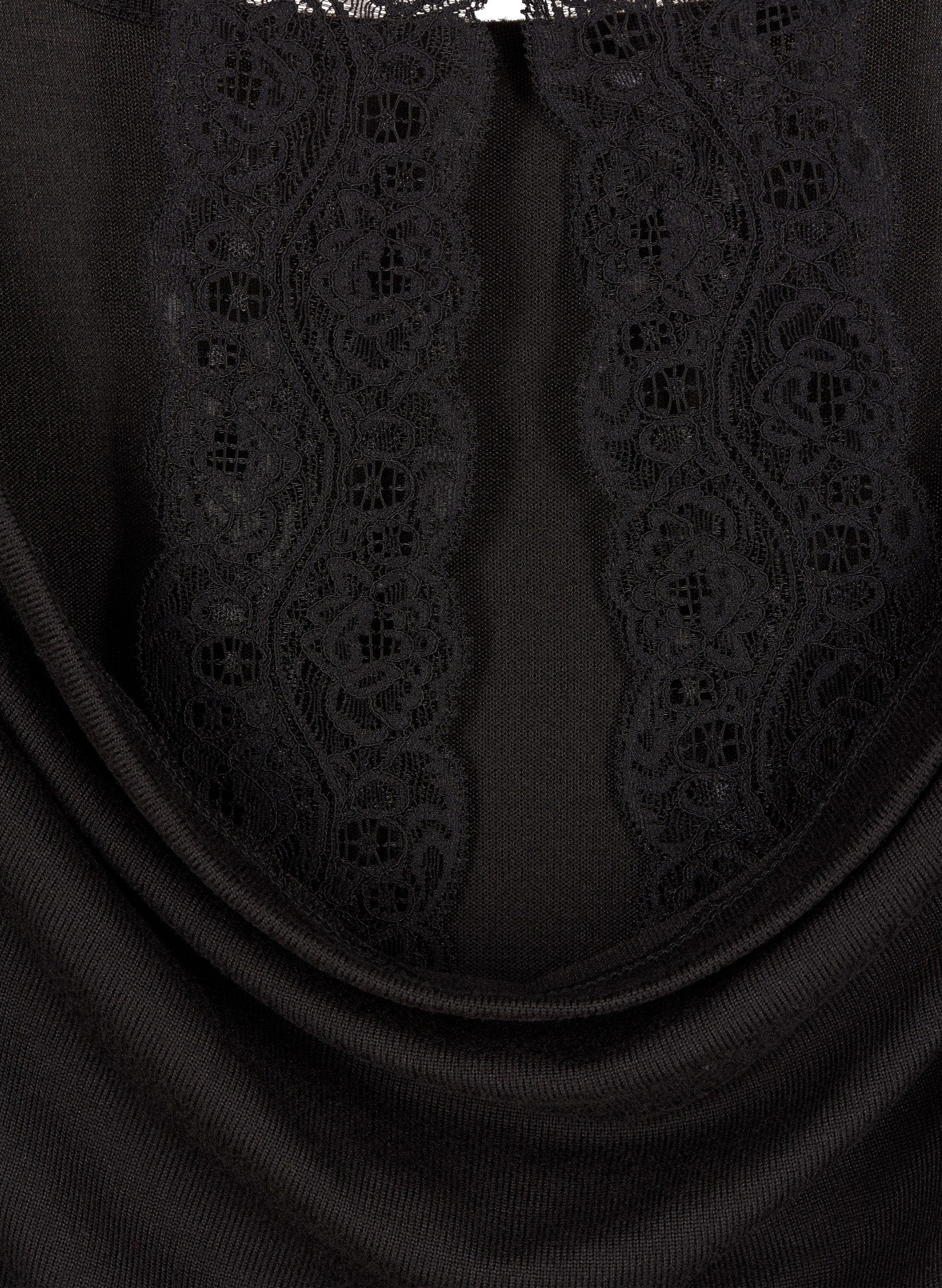 Zizzi Kurzarmbluse Damen Große Größen Bluse Elegant 3/4 Arm Floral Spitze Spitzenbluse Online Kaufen
