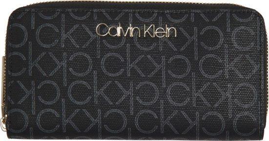 Calvin Klein Geldbörse »CK MUST LRG ZIPAROUND MONO«, mit goldfarbenen Details