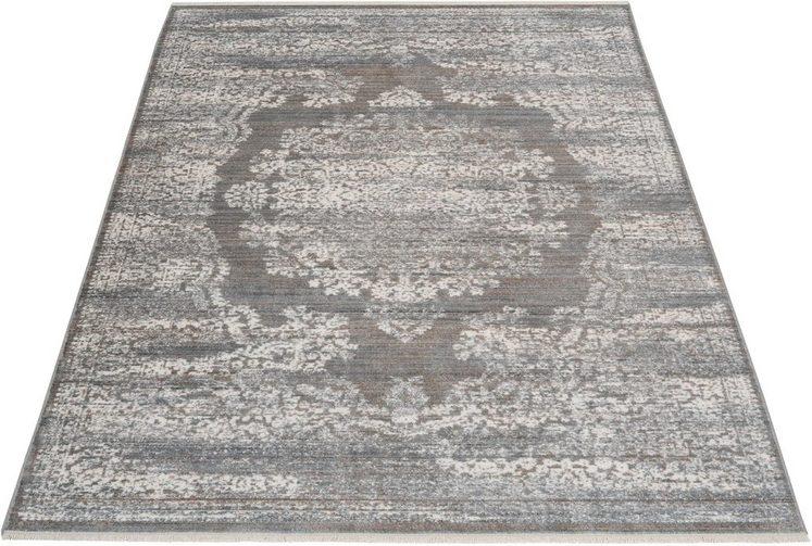 Orientteppich »Malak«, Leonique, rechteckig, Höhe 5 mm, mit Fransen
