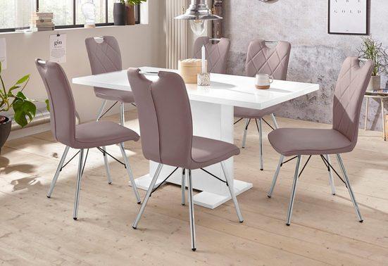 Essgruppe »CLEO G«, (Set, 5 tlg), bestehend aus einem Tisch ausziehbar und 4 Stühlen