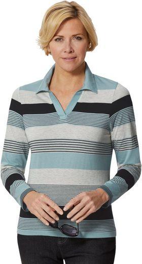 Casual Looks Poloshirt im kombistarken Ringeldessin