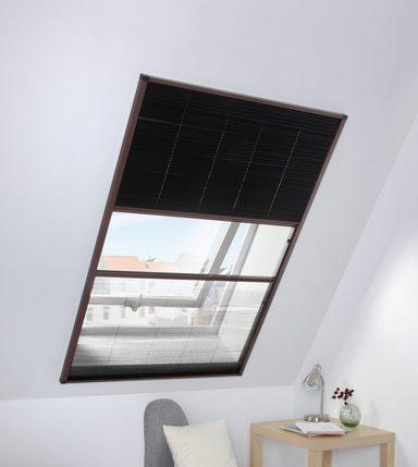 HECHT Dachfensterplissee braun/schwarz, BxH: 110x160 cm