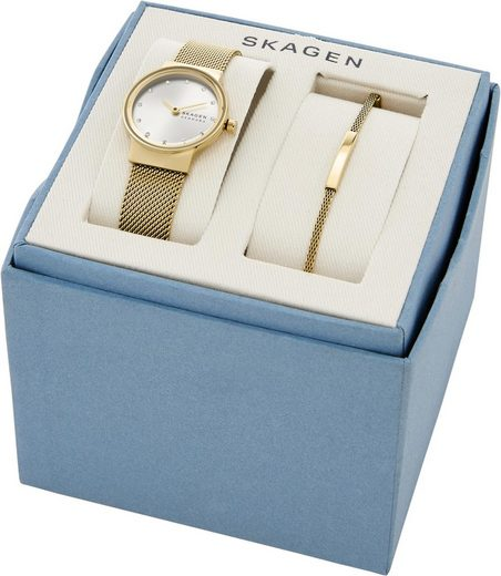 Skagen Quarzuhr »FREJA, SKW1108« (Set, 2 tlg., mit Armband)