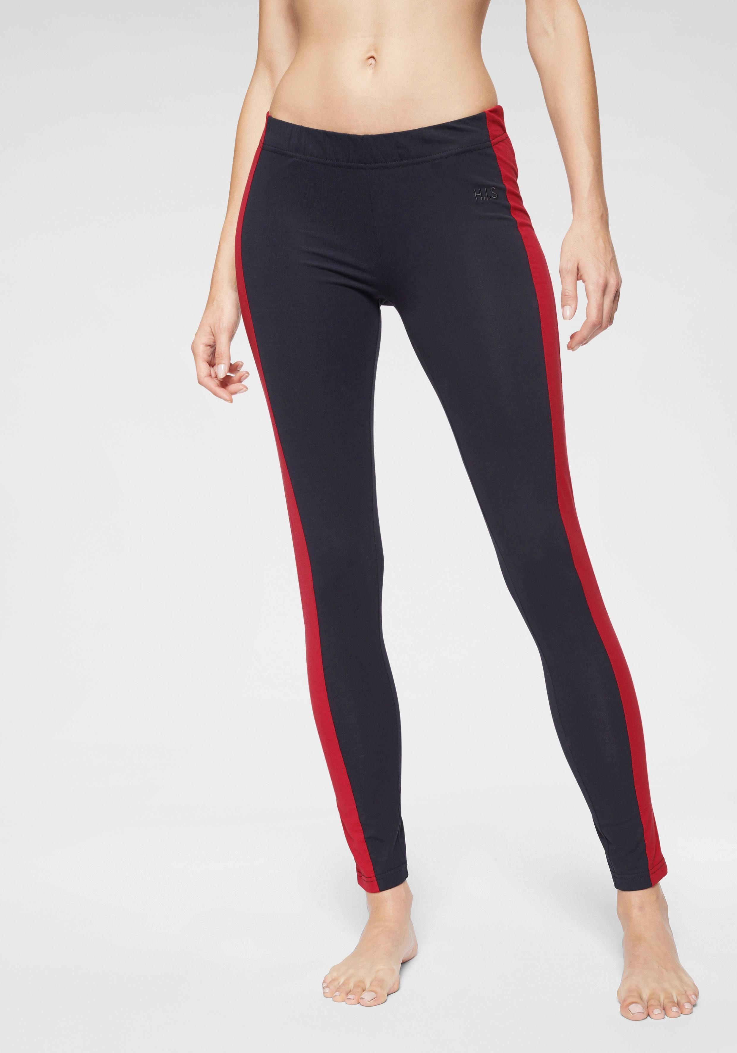 Active By Lascana 7/8-leggings Mit Seitenstreifen Navy
