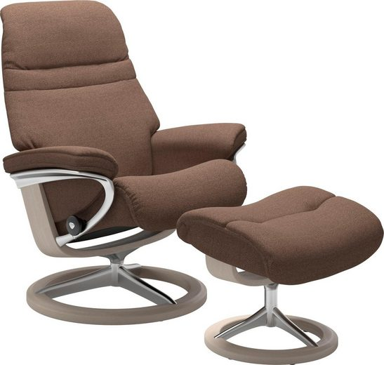 Stressless® Relaxsessel »Sunrise« (Set), mit Signature Base, Größe M, Gestell Whitewash