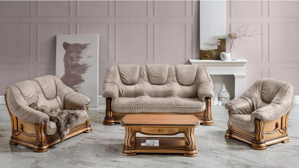 Premium Collection By Home Affaire Polstergarnitur Grizzly Set 3 Tlg Online Kaufen Otto