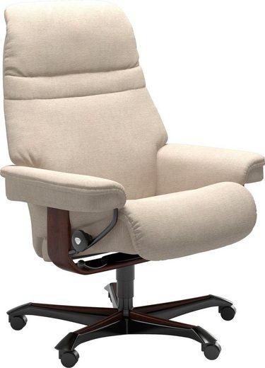 Stressless® Relaxsessel »Sunrise«, mit Home Office Base, Größe M, Gestell Braun