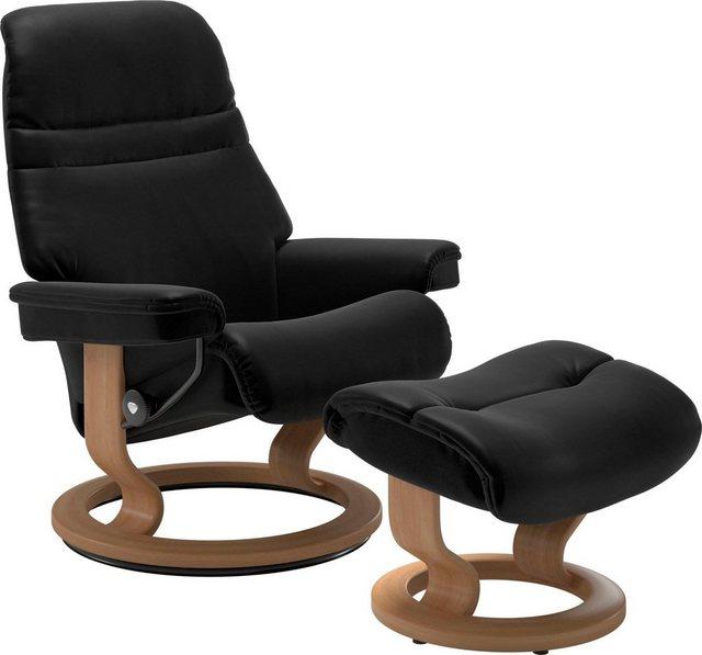 Sessel und Hocker - Stressless® Relaxsessel »Sunrise« (Set), mit Classic Base, Größe M, Gestell Eiche  - Onlineshop OTTO