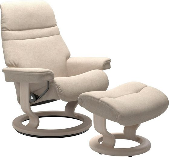 Stressless® Fußhocker »Sunrise«, mit Classic Base, Gestell Whitewash