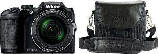 Nikon »Coolpix B500 + Tasche CS-P08« Kompaktkamera (NIKKOR, 16 MP, 40x opt. Zoom, WLAN (Wi-Fi), Bluetooth, mit Tasche CS- P08)
