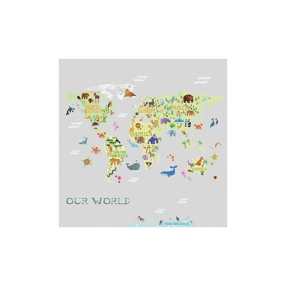 RoomMates Wandsticker Kids World Map, 33-tlg. | OTTO