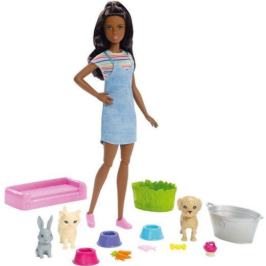Mattel® Barbie Badespaß Tiere & Puppe (brünett)