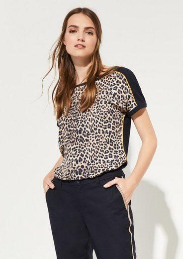 Comma Shirt mit Leopardenprint