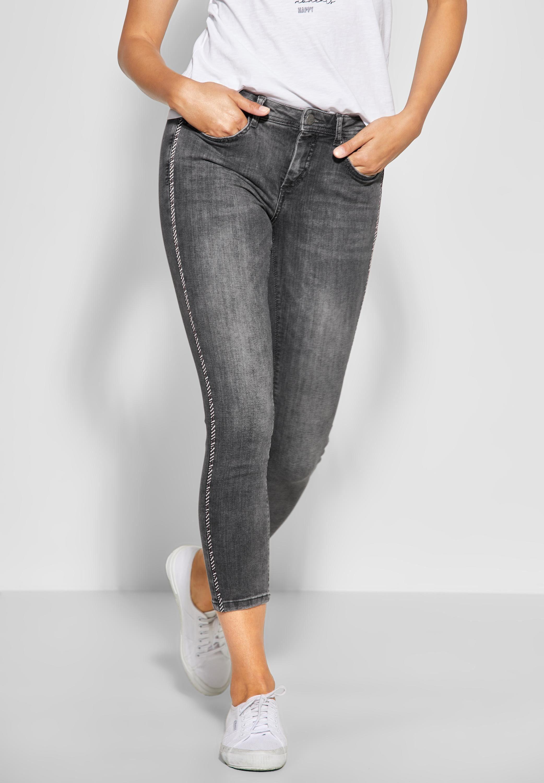 STREET ONE Slim fit Jeans mit dekorativen Galon Streifen in Zebra Optik online kaufen | OTTO
