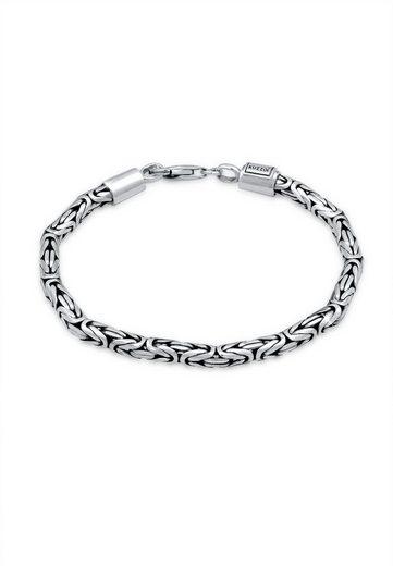 Kuzzoi Armband »Herren Königskette Oxidiert 925 Silber«