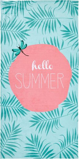 done.® Strandtuch mit Tasche, »Hello Sommer«