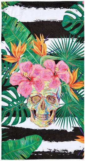 done.® Strandtuch mit Tasche, »Summer Skull«