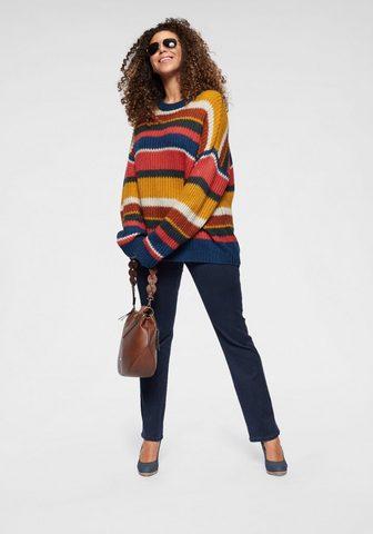 ONLY CARMAKOMA Dryžuotas megztinis