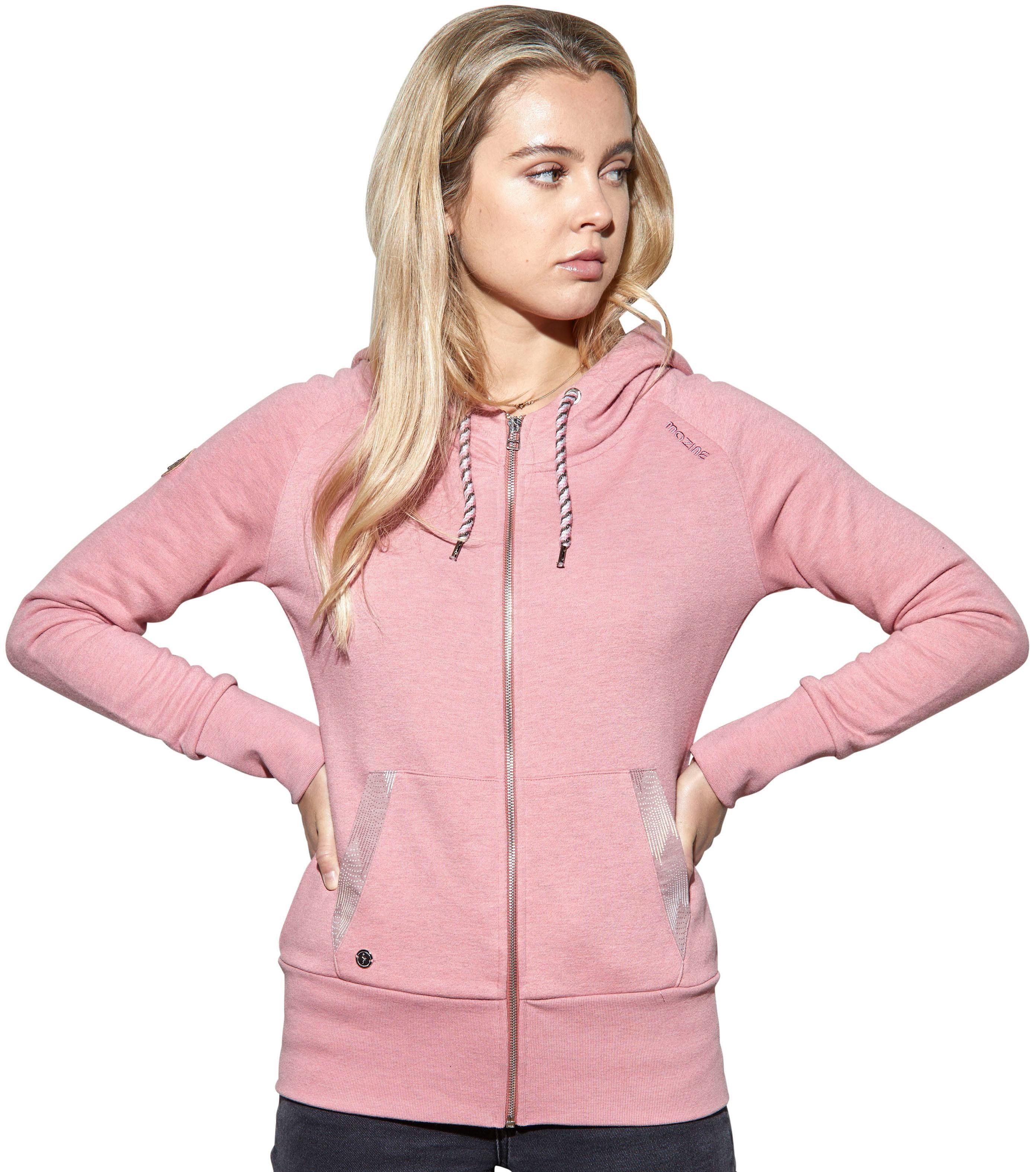 MAZINE Kapuzensweatshirt »GUSTINE« mit sprinkle printed Farb Kontrasten online kaufen | OTTO