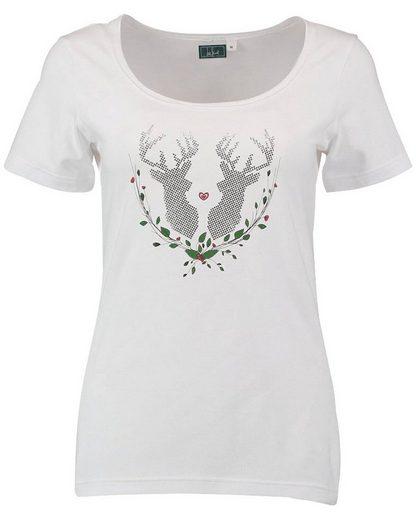 Luis Steindl T-Shirt mit Hirschmotiv
