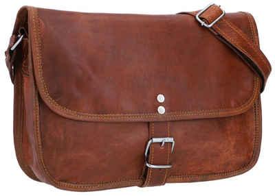 Gusti Leder Handtasche »Mary L« (1-tlg), Umhängetasche Tablettasche Schultertasche