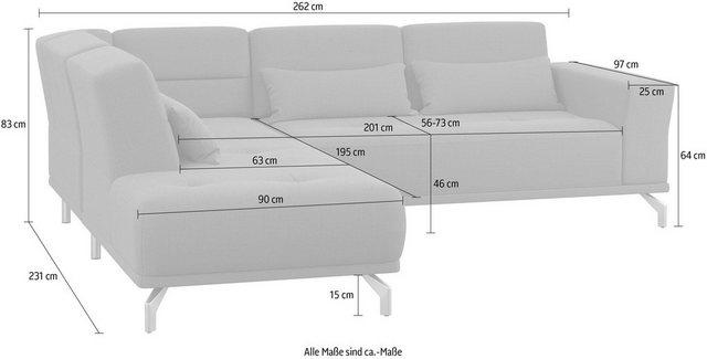 sit&more Ecksofa, inklusive Sitztiefenverstellung | Wohnzimmer > Sofas & Couches > Ecksofas & Eckcouches | Grau | sit&more