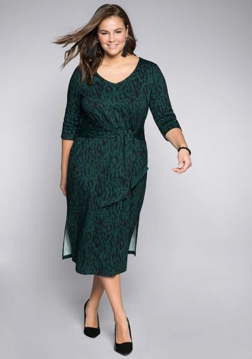 Sheego Shirtkleid mit dekorativem Bindeband
