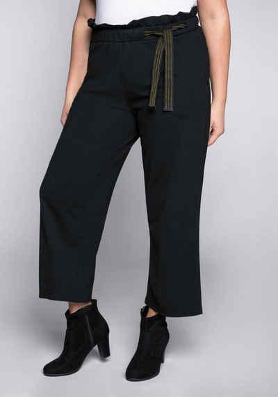 Schlupf Hose mit elastischem Bund Gr.48 indigo Weite Damen Hose