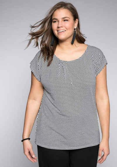 Sheego Rundhalsshirt in leichter Oversize-Form