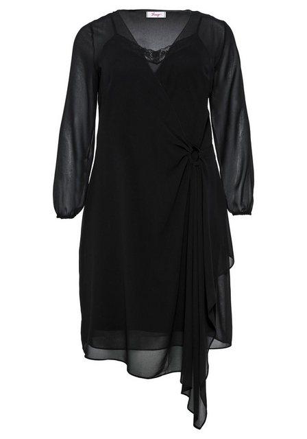 Sheego Partykleid in Wickel-Optik | Bekleidung > Kleider > Partykleider | Sheego