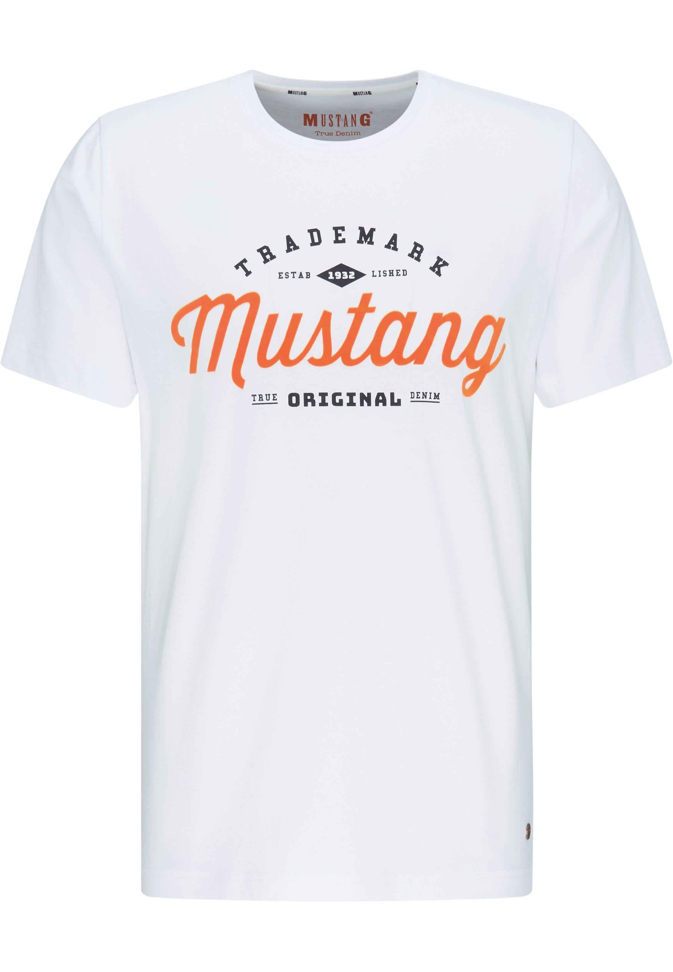 MUSTANG T Shirt »Alex C Print«, Zweifarbiger Retro Print online kaufen   OTTO