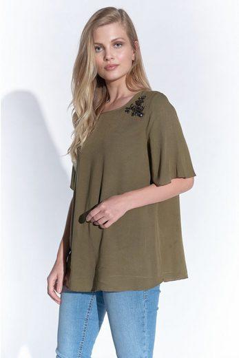 Vestino Shirtbluse mit Strass-Nieten