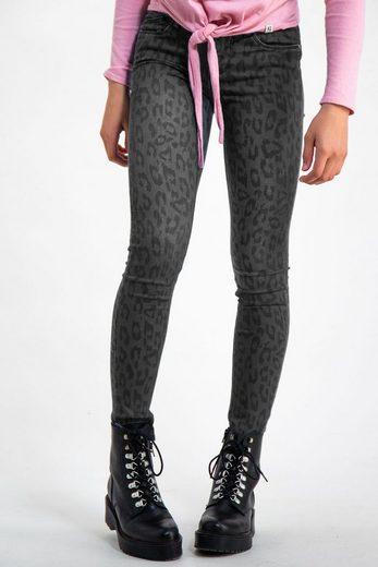 Garcia Skinny-fit-Jeans mit Leoprint