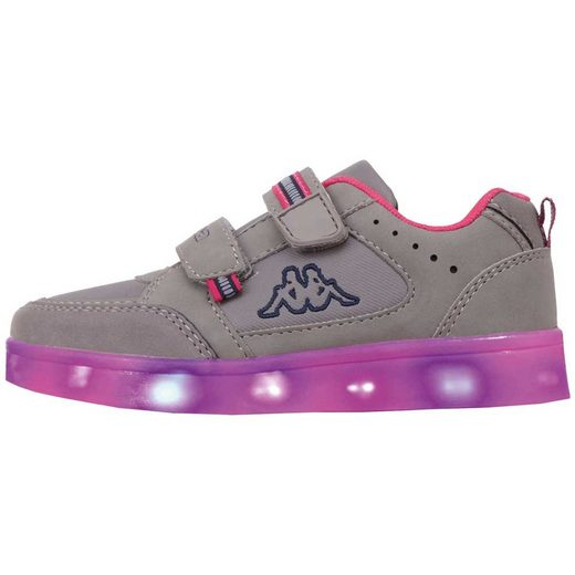 Kappa »MASPER ICE KIDS« Sneaker mit mehrfarbigen Lichtelementen in der Sohle