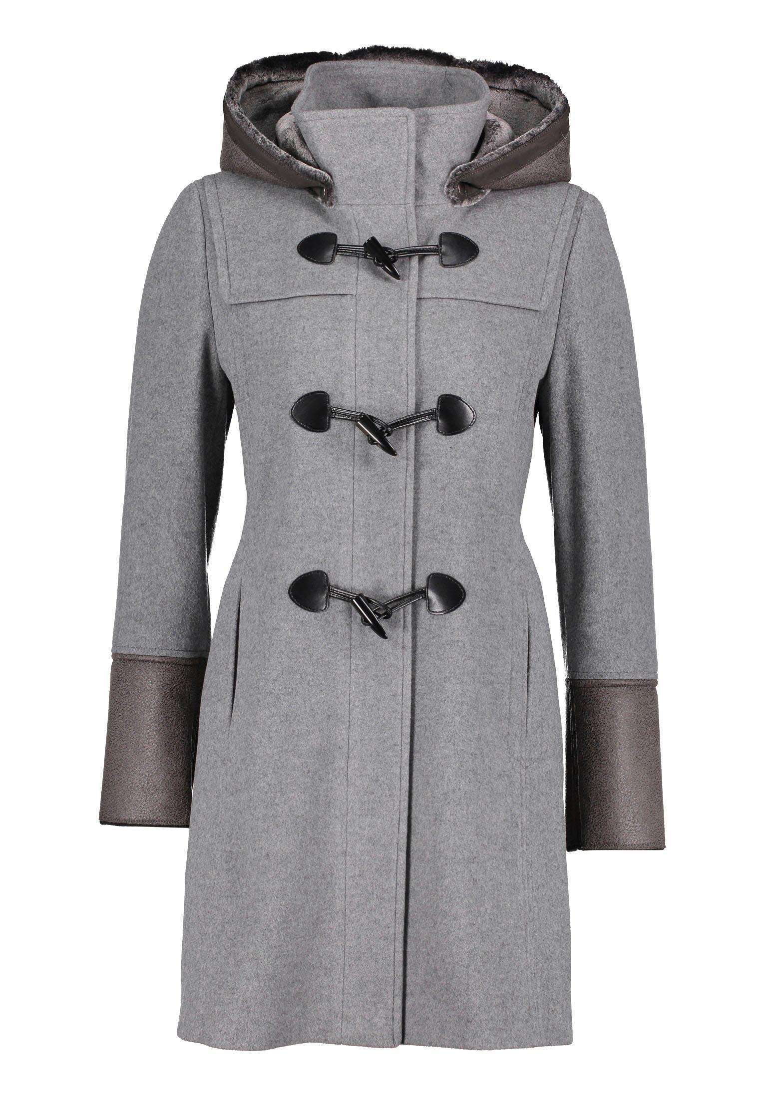 Gil Bret Dufflecoat mit modischen Details aus Lederimitat online kaufen | OTTO