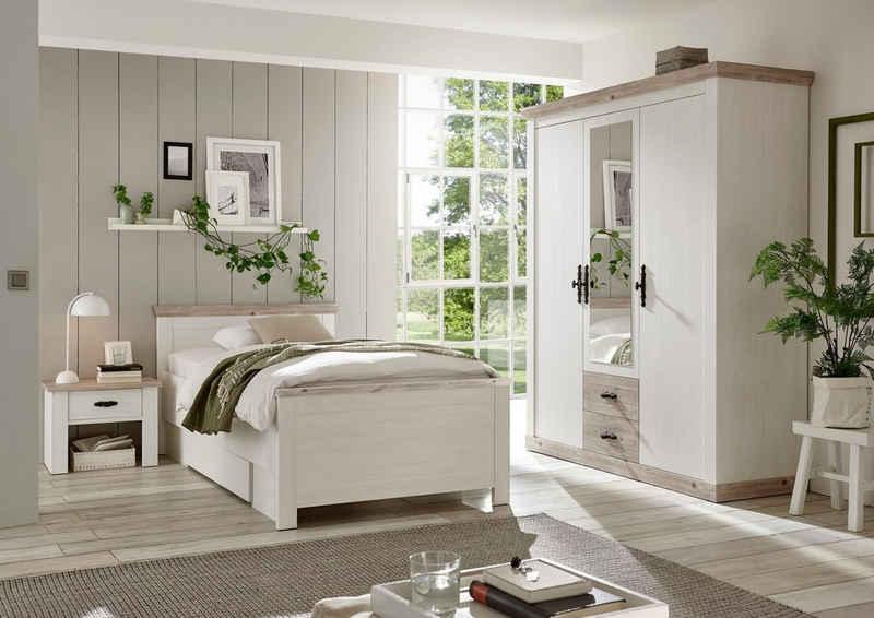 Home affaire Schlafzimmer-Set »Florenz«, (ab Bettgröße 140cm. sind 2 Nachttische enthalten), in 3 verschiedenen Ausführungen