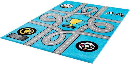 Kinderteppich »Bambino 2115«, Sanat, rechteckig, Höhe 12 mm, Kinder Straßen-Spielteppich, Kurzflor