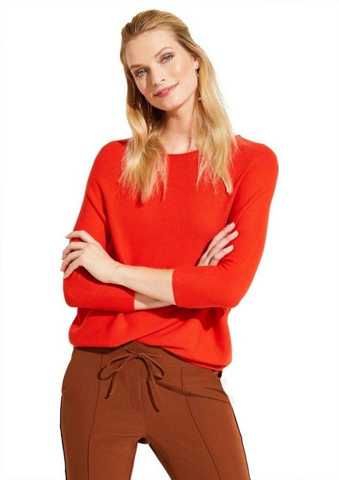 Comma 3/4 Arm-Pullover mit Fledermausärmeln | Bekleidung > Pullover > 3/4 Arm-Pullover | Orange | Denim | Comma