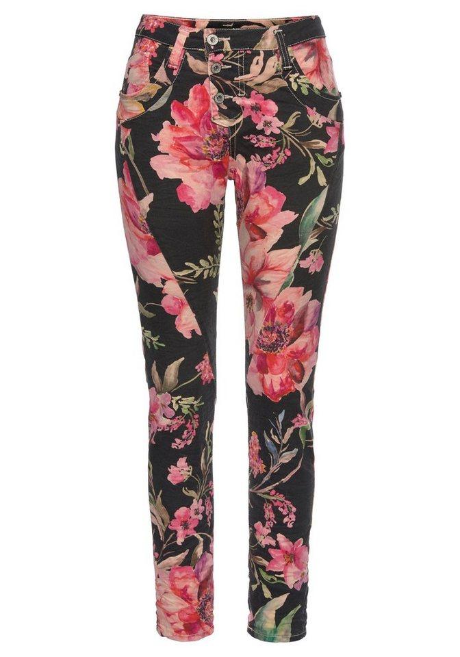 Spitzenstil lässige Schuhe Gratisversand Please Jeans Boyfriend-Hose »P78A« mit allover Hibiskus Blumen Druck online  kaufen   OTTO