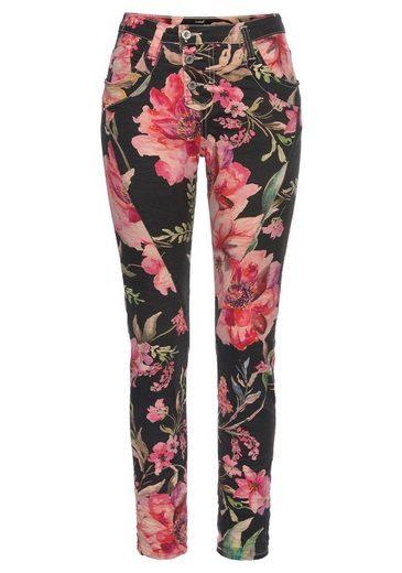 Please Jeans Boyfriend-Hose »P78A« mit allover Hibiskus Blumen Druck